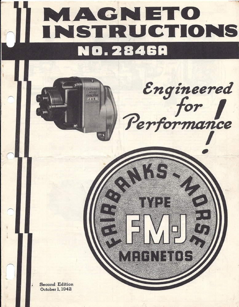 Magneto Rx: - Fairbanks Morse - FMJ4A,B Instructions 1942 ... on