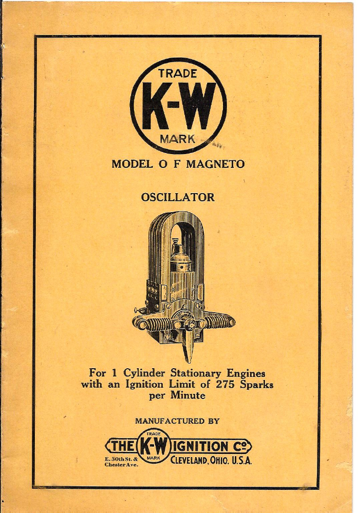 Magneto Rx: - K-W Ignition Company Magnetos - K-W O F Oscillating