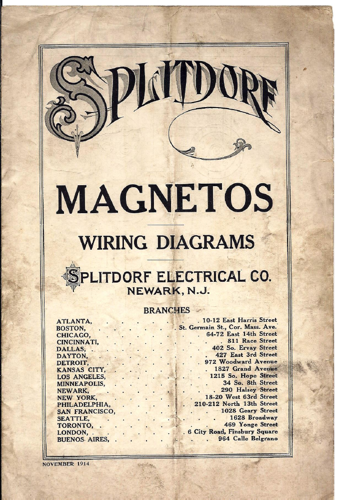 magneto rx splitdorf splitdorf wiring diagrams 1914 silver