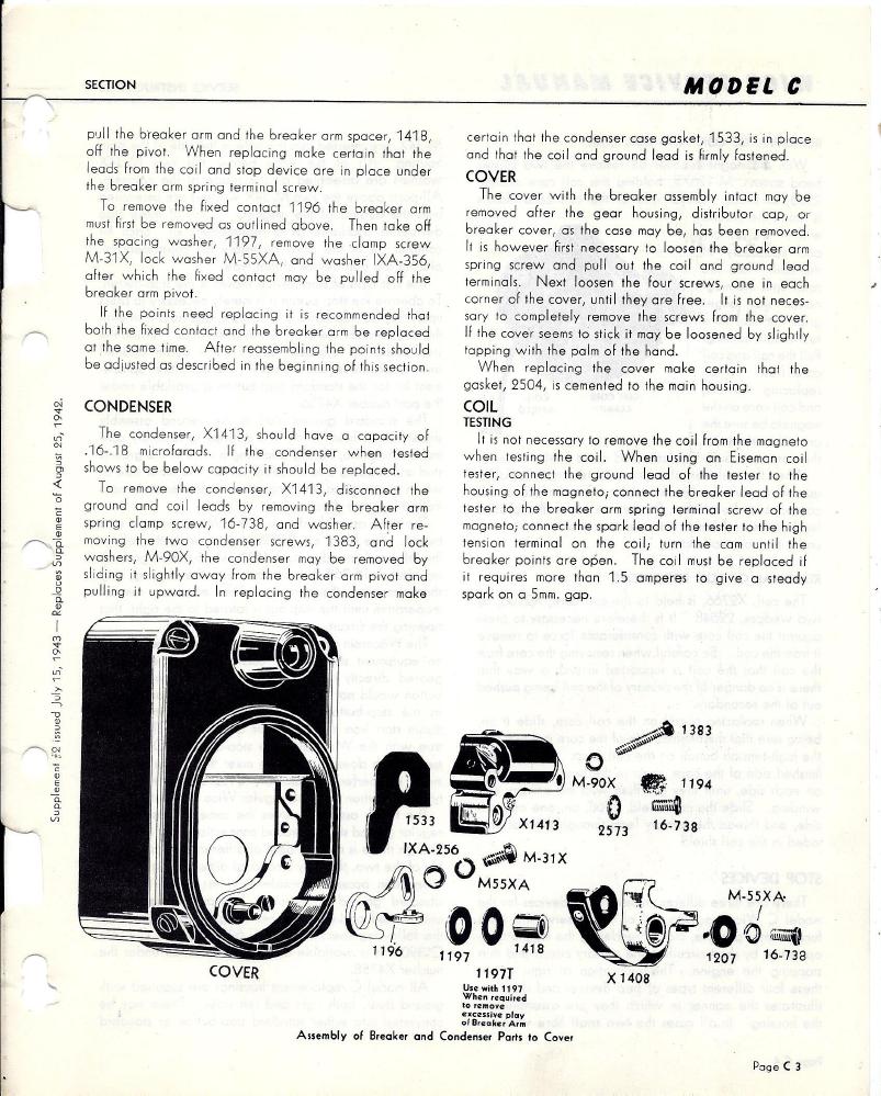 Wico C magneto Service Manual